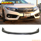 For 16-17 Honda Civic X 2/4Dr CS Style Front Bumper Lip Splitter Spoiler PU USA Domestic Free Shipping