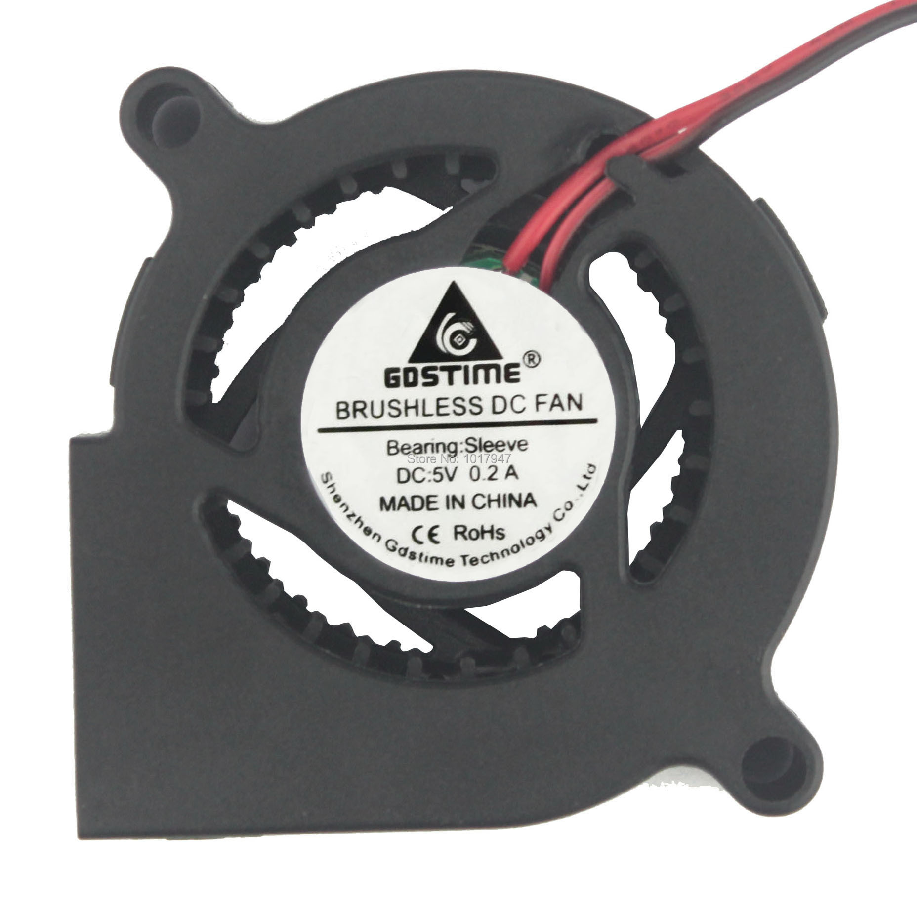 1pcs Gdstime <font><b>5V</b></font> 2Pin DC 5cm 50mm x <font><b>20mm</b></font> Centrifugal Cooling Cooler Blower <font><b>Fan</b></font> image