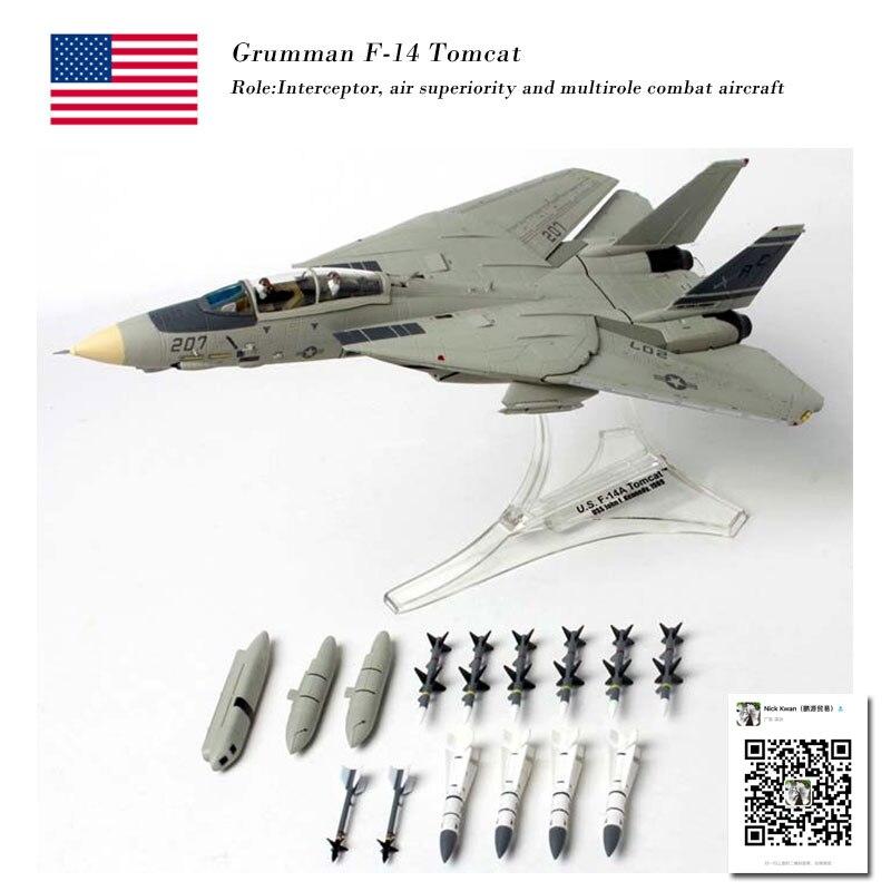 FOV 85040 1/72 échelle us F-14A TOMCAT Fighter moulé sous pression en métal militaire avion modèle jouet pour Collection/cadeau/décoration