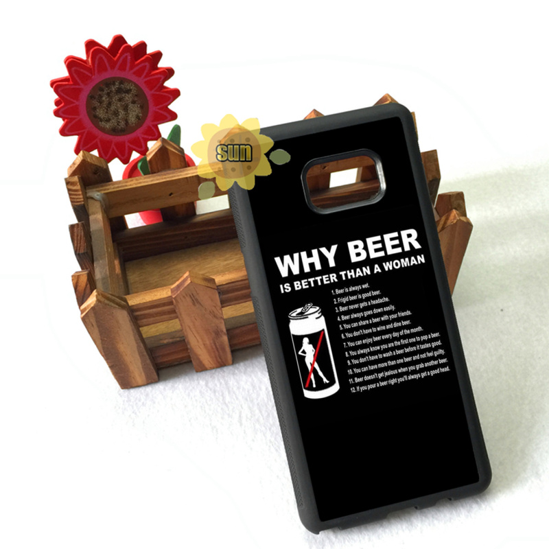 why beer is better than woman cool soft edge case for samsung s3 s4 s5 s6 s6edge plus s7 s7edge s8 s8plus note8 note5 note3 case