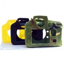 מגן גומי מקרה עבור NIK0N D800 D810 מצלמה גוף סיליקון עור מסגרת מקרה כיסוי נגד החלקה DSLR מצלמה תיק הגנת כיסוי