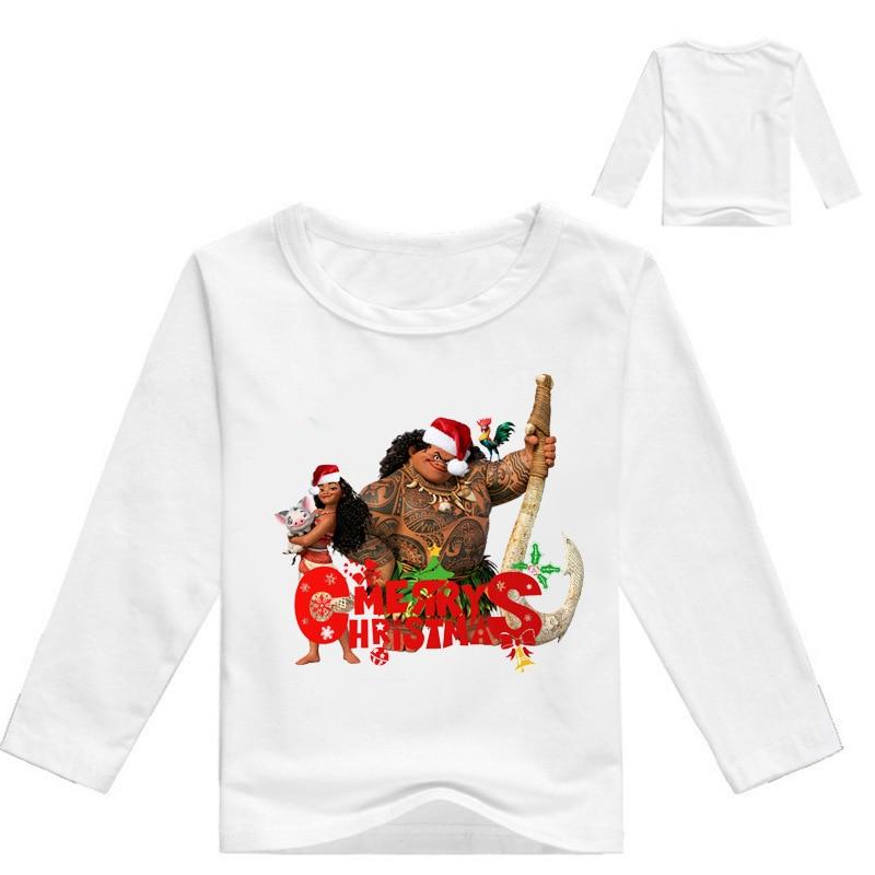 Z&Y 3-16Years Maui Moana Costume Merry Christmas Shirt Kids Clothes Boys Sweatshirt Bobo Choses 2017 Autumn Long Sleeve Top H014
