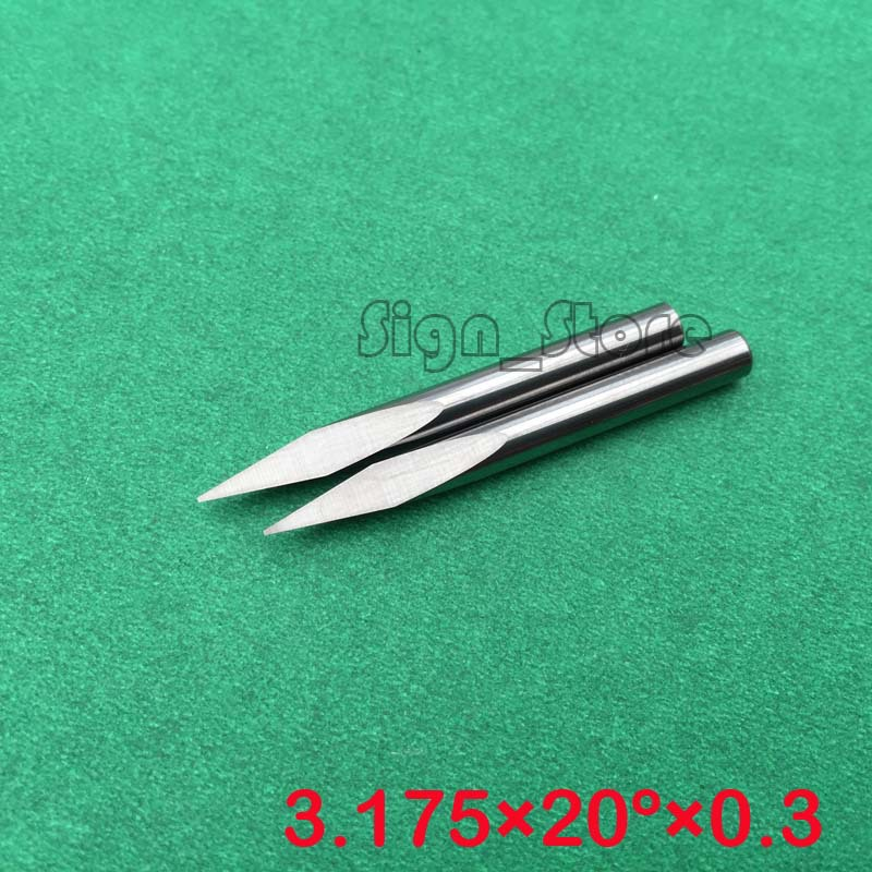Free Shipping 10Pcs 3.175mm Tool-Tip 0.3mm 20 degree three-square cutting tools/carving Cutters Three Face CNC Router Bits 60 angle 4 0 4mm tip sharp three edge cnc router carving tool engraving bits 10pcs carbide cutting machine tools free ship