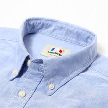 100% cotton solid striped shirt men spring casual shirts oxford dress shirt camisa masculina white black