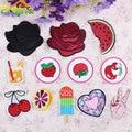 1 UNIDS Corazón Unicornio Rosa Parche de Pizza Barato Bordado Parches Lindo Lip Parches De Hierro En Los Niños de Dibujos Animados De Ropa Jeans apliques