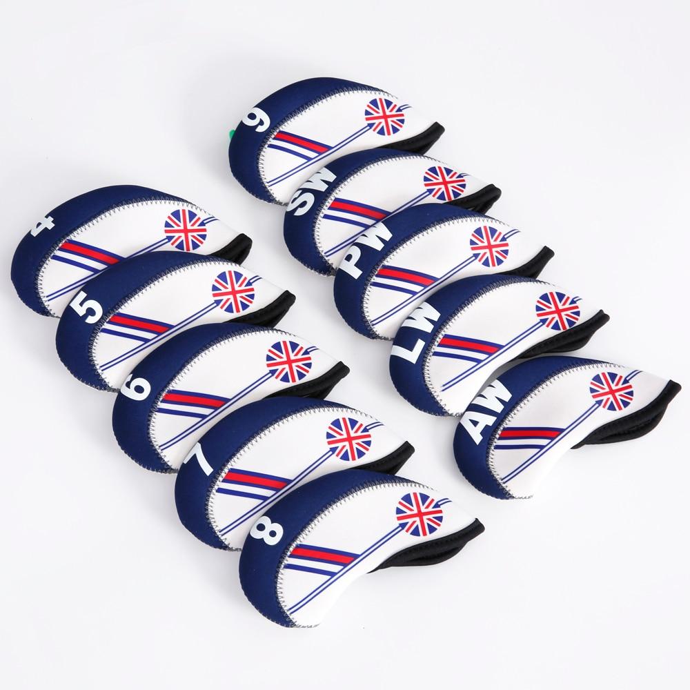 Golf Club Iron Head Cover Set 10pcs