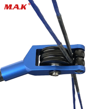 New 3 Color Cable Slide Pulley Compound Bow Bowstring Splitter Roller Glide Bow String Separator for Archery Hunting Shooting 3 8 aluminum archery cable slide compound bow string splitter roller glide cable slide bow string separator for compound bow