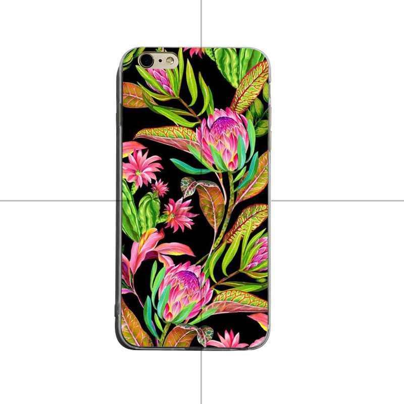 Yinuoda Tropical พืชดอกไม้ต้นไม้นกรายละเอียดยอดนิยมสำหรับ iPhone 8 8 plus 7 7 plus 6 วินาที 6 sPlus XSMax X XS XR