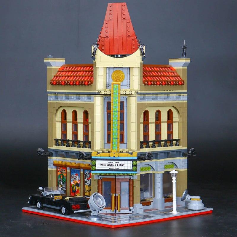 Compatible Legoe 10232 Lepin 15006 2354PCS Palace Cinema Model building blocks bricks toys for children 0367 sluban 678pcs city series international airport model building blocks enlighten figure toys for children compatible legoe