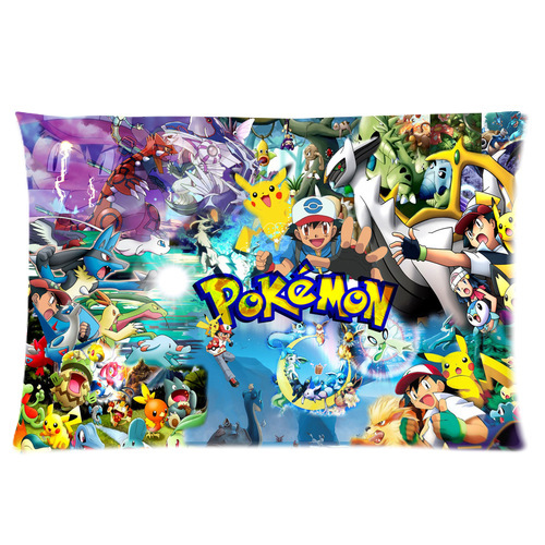 Customized Cartoon Pokemon Cute Pikachu Pillow Cases Size 35x45 CM (one Side)