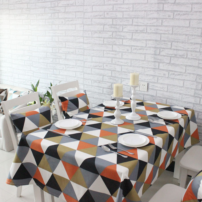 Aliexpress Triangular Splice Colorful Summer Table Cloth Simple Geometric Round Tablecloth From Reliable Suppliers On Angelina S
