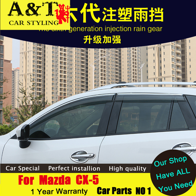 Para Mazda CX-5 Chuva escudo carro styling 2013-2015 CX-5 Dedicado modelos chuva escudo Chuva sobrancelha carro Original