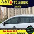 Para Mazda CX-5 Rain shield car styling 2013-2015 CX-5 Dedicado modelos Originales del coche protector de la lluvia Lluvia ceja