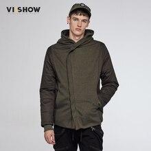 VIISHOW Brand Winter Jacket Slim Fit Parka Men Army Green Hoody Jacket and Coat Hip Hop