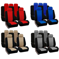 Dewtreetali Universal 4pcs 9pcs Front Seat Cover Front Back Car Seat Protector Blue Gray Red For