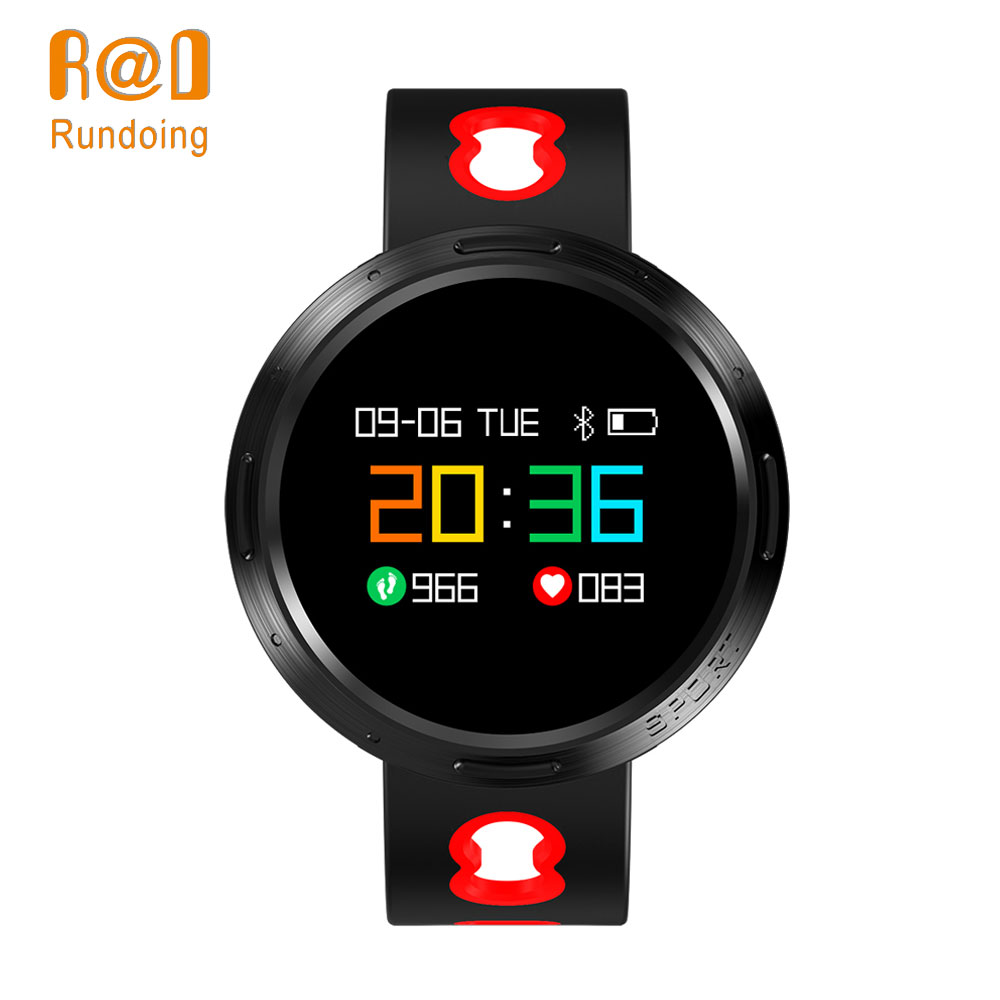 Rundoing X9 VO pulsera inteligente IP68 impermeable presión arterial Monitor SMS Push smartband Wristband Fitness tracker