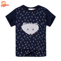 Yayabb 2-7 yrs Navy Blue Short Sleeve Tops T Shirt Tees Clothes New Casual Boys T Shirts 100% Cotton Kids Summer Clothes