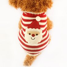 Фотография Armi store  Christmas Striped Knit Dog Sweater Dogs Festival Sweaters 91018 Puppy Autumn / Winter Clothing Supplies