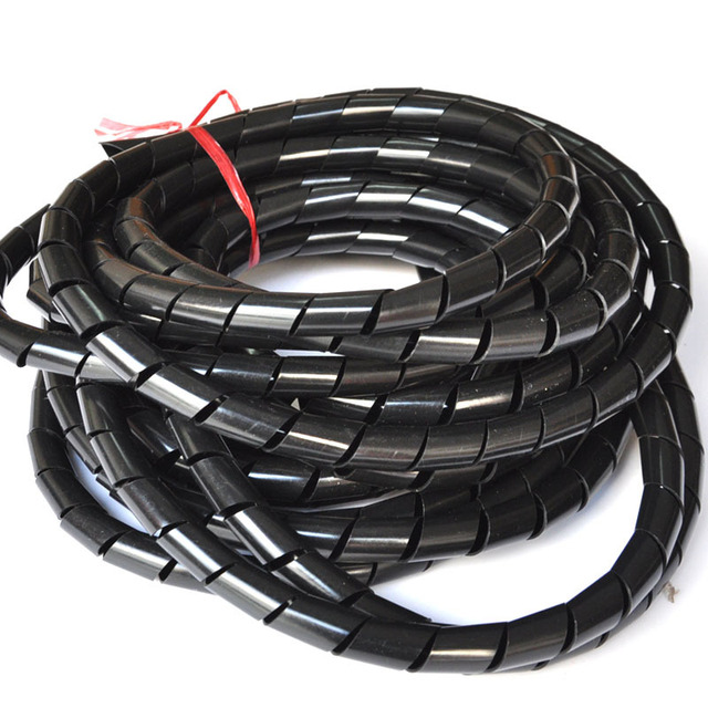 New Arrival 25mm * 10m length Cable Wire Spiral Tidy Wrap Band ...