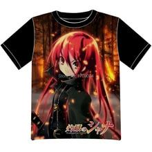 Envío Libre shakugan no Shana Anime manga T-shirt Las Mujeres de Los Hombres Cosplay Camiseta de Malla Negro Tee 001