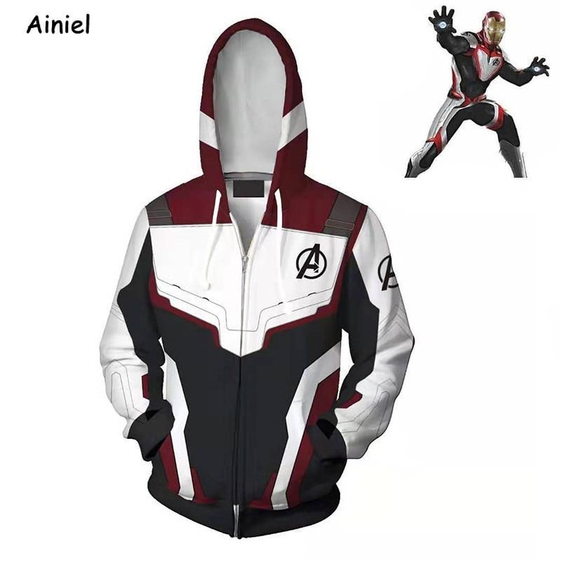 Avengers Endgame Cosplay Costume Quantum Regno Supereroe Capitan America Iron Man Donne Degli Uomini Con Cappuccio Del Rivestimento Del Cappotto