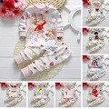 Venda quente do bebê menino roupas de Bebê Crianças Pijama define Crianças sleepwear Conjuntos de pijama de algodão do bebê menina conjuntos de roupas de bebê menino pijama