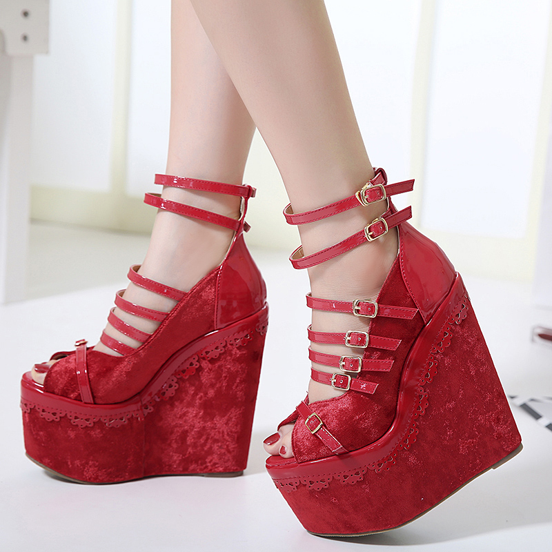 Fashion Summer Wedges Women Sandals Sexy High Heel Pumps Shoes  Muffin  Platform  Woman Singles Shoes size 34-40 phyanic 2017 gladiator sandals gold silver shoes woman summer platform wedges glitters creepers casual women shoes phy3323