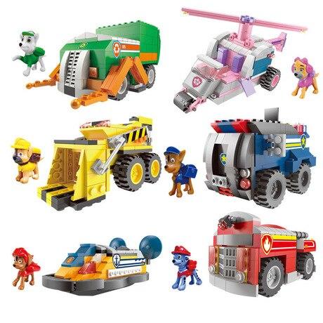 Model Building Kits Building block cartoon dog car toys model kit modellismo plastic model blocks toys car toy modelismo hot new