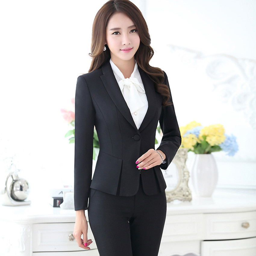 New-Hot-Fashion-Women-Ladies-Autumn-spring-Dress-Suits-Slim-Stitching-Pocket-bussiness-work-wear-Sets (4)