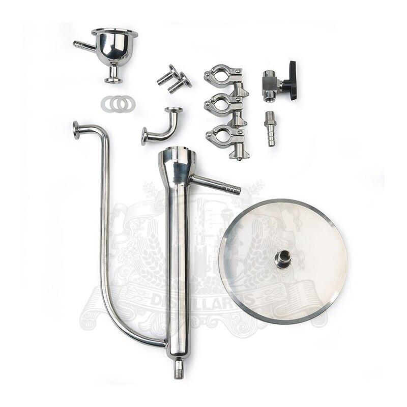 Непрерывное измерение АЛКОГОЛЬ нержавеющей стали 304 зажим на сантехническую трубу OD50, 5 мм попугай соединение для дистиллятор.