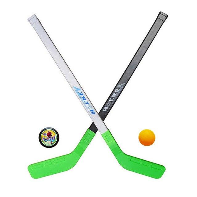 4 sztuk/zestawów Dzieci Dziecko Zima Hokeja Trzyma Szkolenia Narzędzia Z Tworzywa Sztucznego 2 xSticks 2 Sporty Zimowe xBall Zabawki pasuje do 3-6years