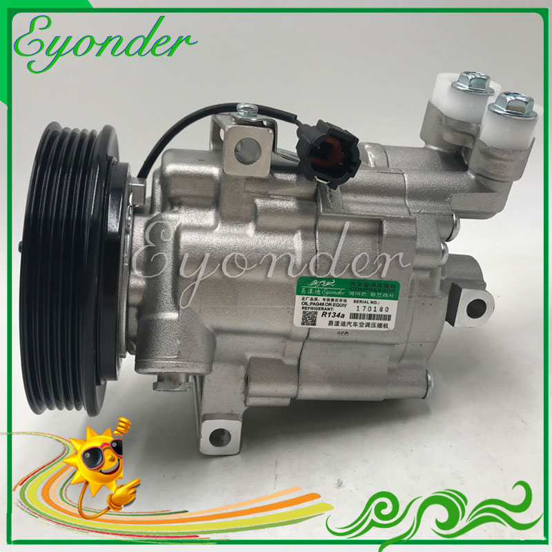 A/C AC Air Conditioning Compressor Cooling Pump DKV08 for Nissan MARCH III MICRA K12 16V NOTE E11 1.4 1.6 92600AX80A 92600AX80B 520w cooling capacity fridge compressor r134a suitable for supermaket cooling equipment