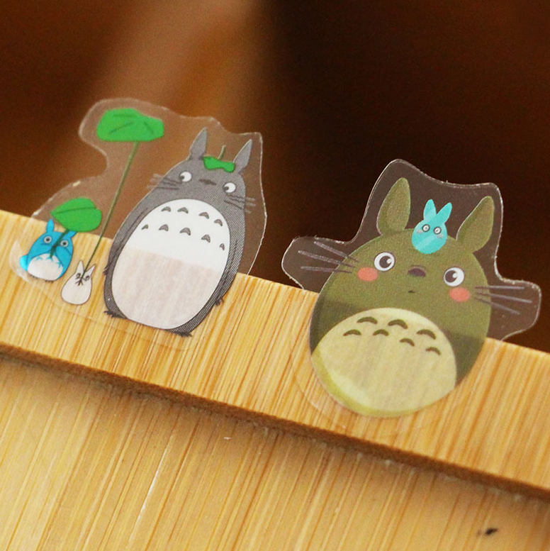 60 Pcs/pack Cute Totoro Stickers Pvc Clear Stickers Scrapbooking For Diary Album Decorative Sticker DIY Japanese Label Sticker