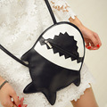 Hot Cartoon Kawaii Women Shoulder Bag 3D Fish Mini Purse Lolita Handbag Women PU Shark Cross Body Bags Free Shipping