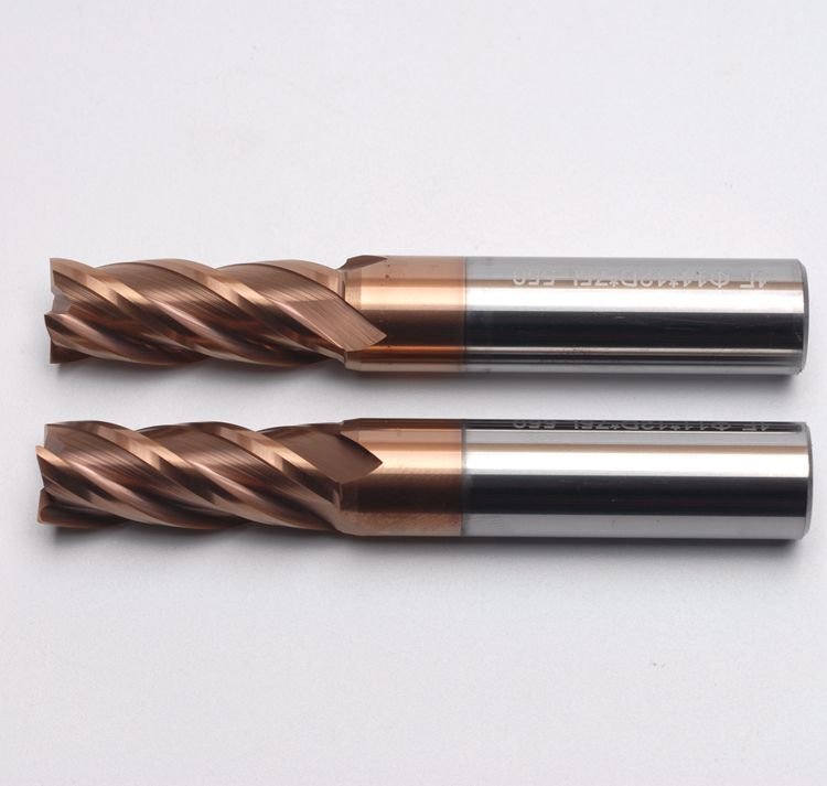 KLOT HRC50 Corner Radius ALTiN Coated Solid Carbide End Mill 10mm-12mm 4-Flute