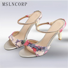 Plus Size 34-43 women summer slippers woman sandals thin heel Fashion Slides High Heels Ladies shoes Dress Wedding Party Pumps недорого