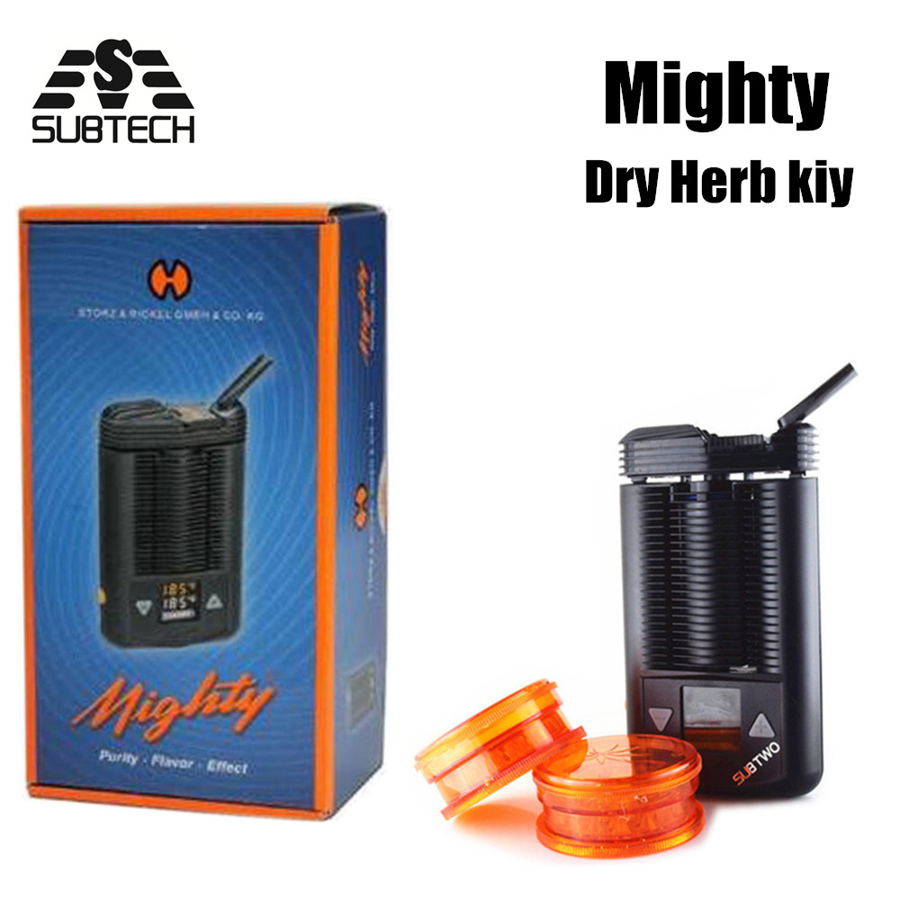 SUB TWO Mighty mod kit dry herb Powerful Temperature Adjustable mod e-cigarettes Mighty herbal vaporizer Box Mod Big Vape mighty v3 herbal vaporizer e cigarette portable powerful temperature adjustable dry herb v3 mighty atomizer wax vape box mod cig