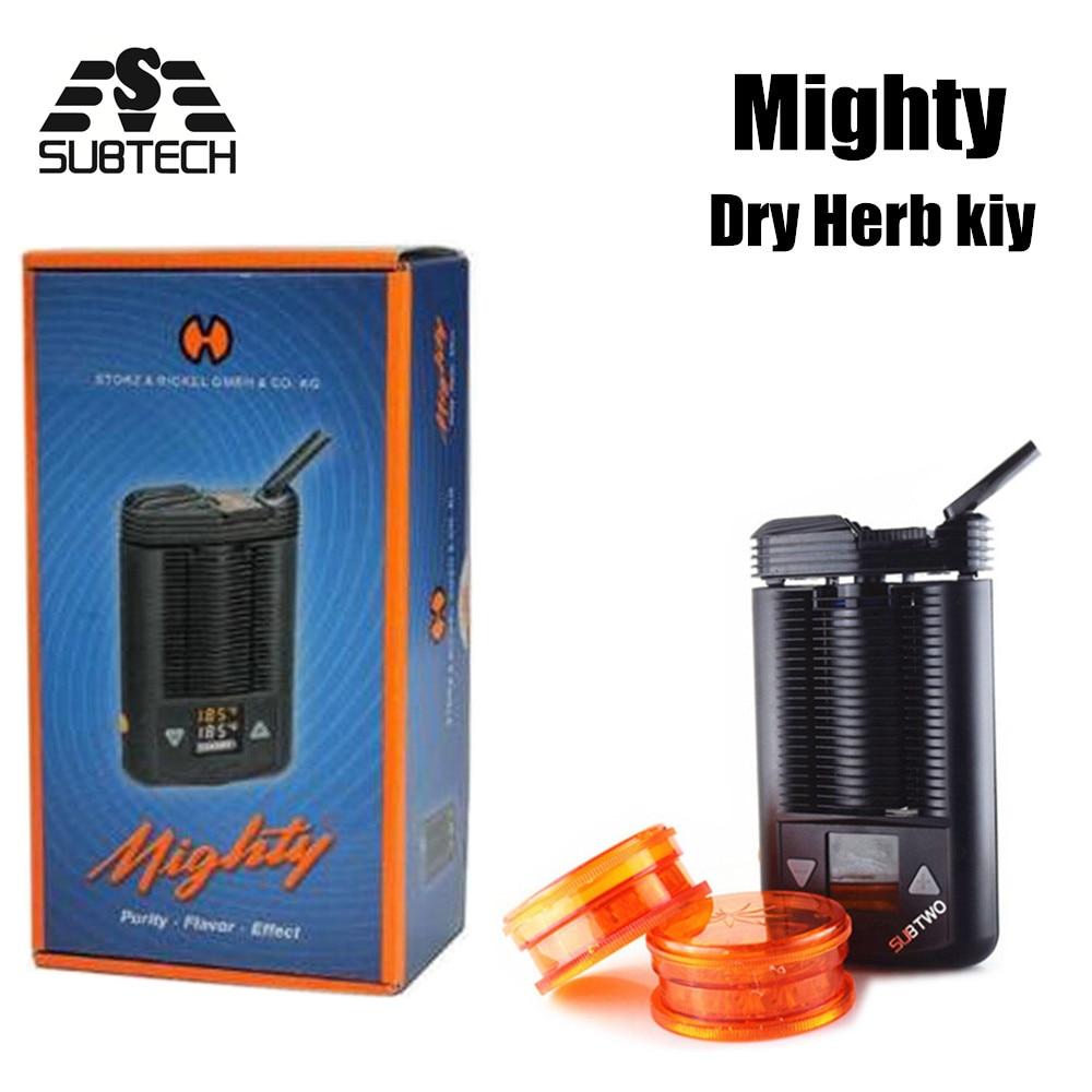 UNTER ZWEI Mighty mod kit trockenen kraut Leistungsstarke Temperatur Einstellbar mod e-zigaretten Mighty kräuter verdampfer Box Mod Große vape
