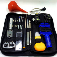 15pcs Watch Repair Tool Kit Set Watch Case Opener Link Spring Bar Remover Screwdriver Tweezer Watchmaker Dedicated Device