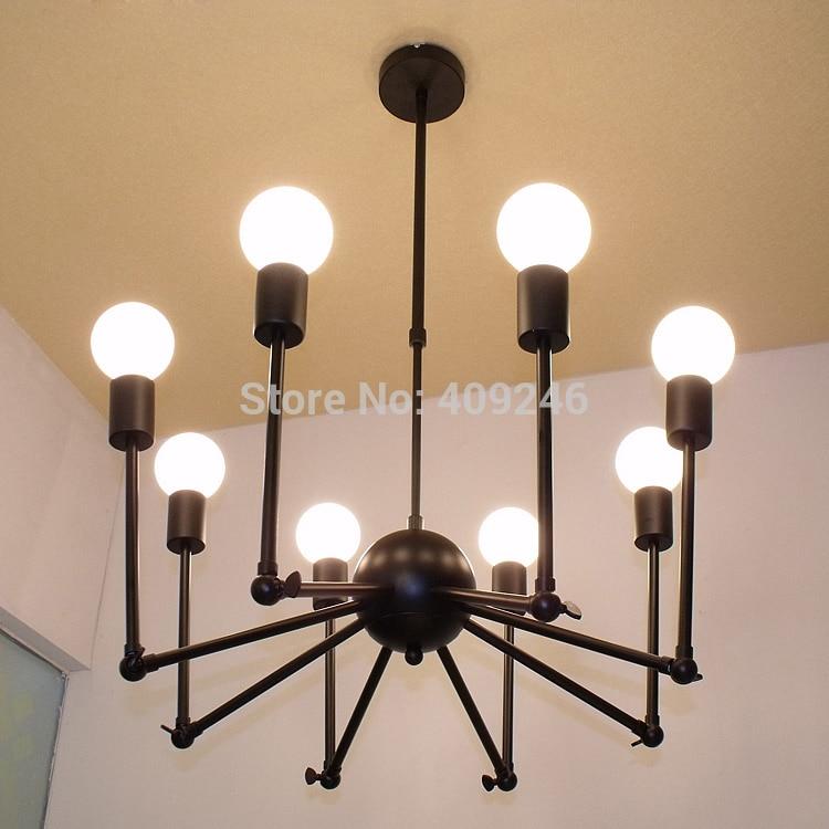 Art Design Loft Vintage Industrial Edison Iron 12 Lights Spider Chandelier Droplight Ceiling Lamp Living Room Dining Cafe In Pendant From