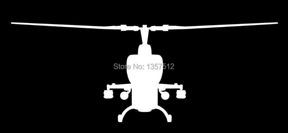 Cobra Helicopters Front CAR STICKER Car Rear Windshield Truck Bumper Door Kayak Canoe Art Wall Die Cut Vinyl Decal 9 Colors - love sticker store