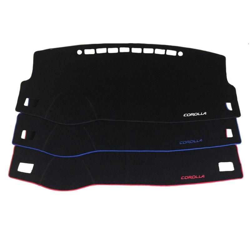 CAR Dashboard Dash Mat Non-Slip Sun Cover Pad For Toyota Corolla 2014-2018 Universal Fit Accessories Decoration