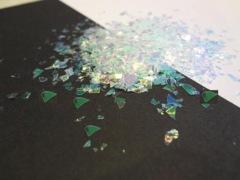 50G/Bag Iridescent Flakes, Mylar Flakes, Cellophane Shards, Crushed Holographic Rainbow Chunky Mirror Glitter flakes for nail50G/Bag Iridescent Flakes, Mylar Flakes, Cellophane Shards, Crushed Holographic Rainbow Chunky Mirror Glitter flakes for nail