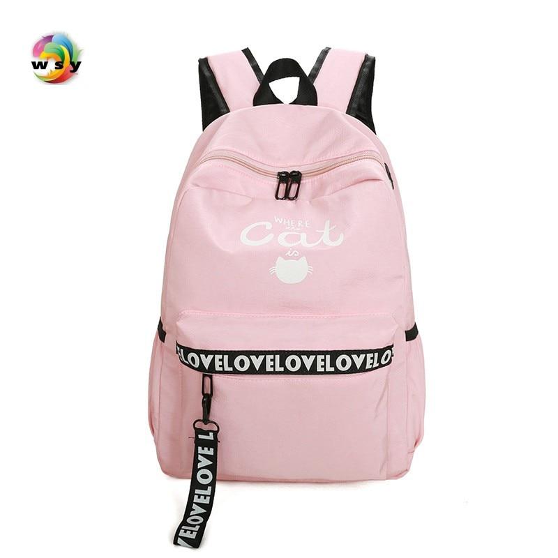 2017 Waterproof Oxford Backpack pink Student School Backpack Bags for Teenagers Vintage Mochila Casual Rucksack Travel Daypack цены онлайн
