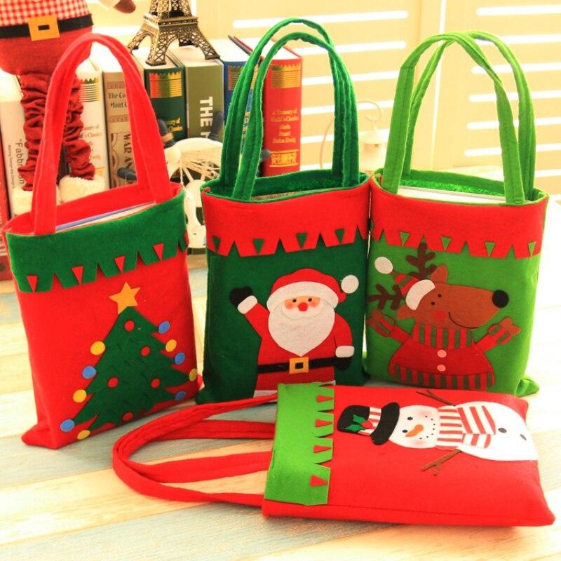Festival Party Supplies Christmas Decorations Custom Candy Bags Handmade Children Holiday Gifts Handbags Chrismas Children Gift