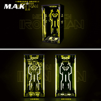 1/6 Figure Scene Accessories Comicave Display Box Acrylic Hall Iron Man Mk6 Warfare with Yellow Light 2.0 for 12''Action Figure