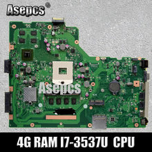 X75VC Laptop motherboard für ASUS X75VC X75VB X75VD X75V F75V Test original mainboard 4G RAM I7-3537U CPU GT720M(China)