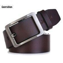 2017 belt men genuine leather luxury strap male belts for men pin buckle fancy vintage jeans cintos masculinos ceinture homme