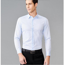 Classic designs pure white shirt formal occasions the groom's wedding dress shirt single-breasted high quality custom
