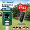 COMPRAR Aosion com bateria recarregável de energia Solar ultrasonic dog cat animais fox pássaro repeller chaser (tenho portátil livre do mosquito)